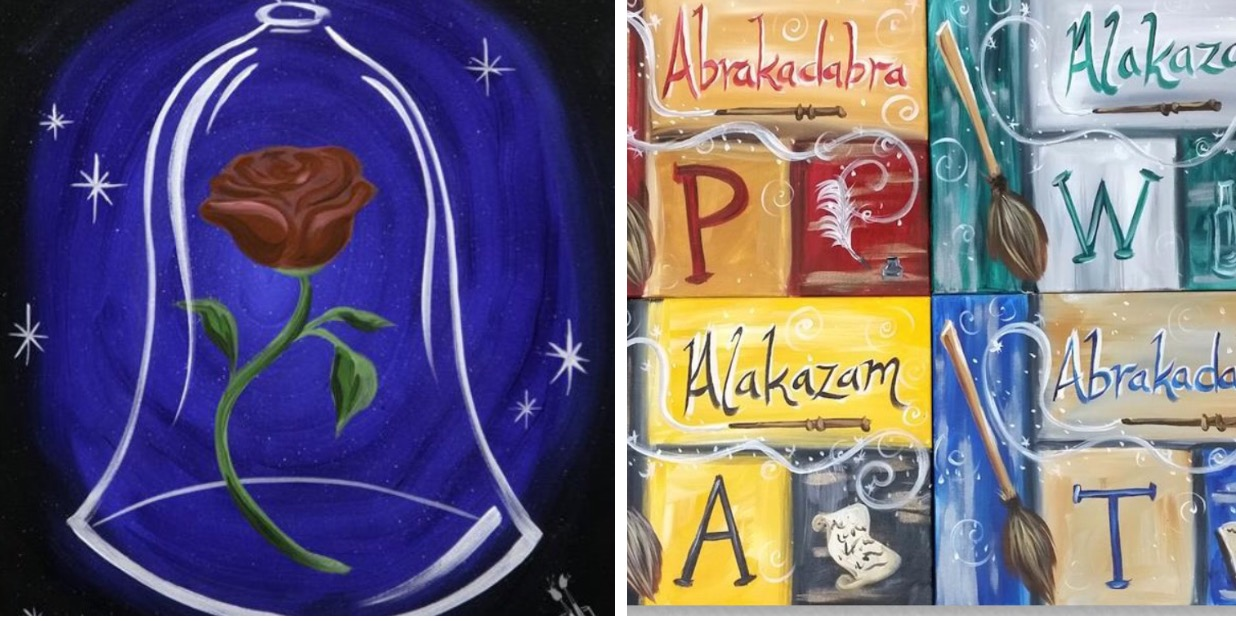 Painting With A Twist To Host Kids Disney And Harry Potter Themed