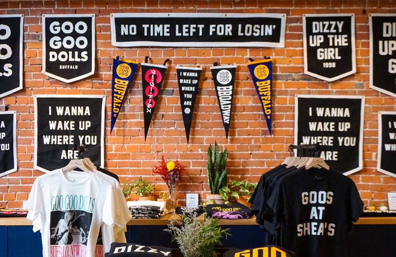 Oxford Pennant is hosting a Goo Goo Dolls pop-up shop this week and we couldn't be more excited!