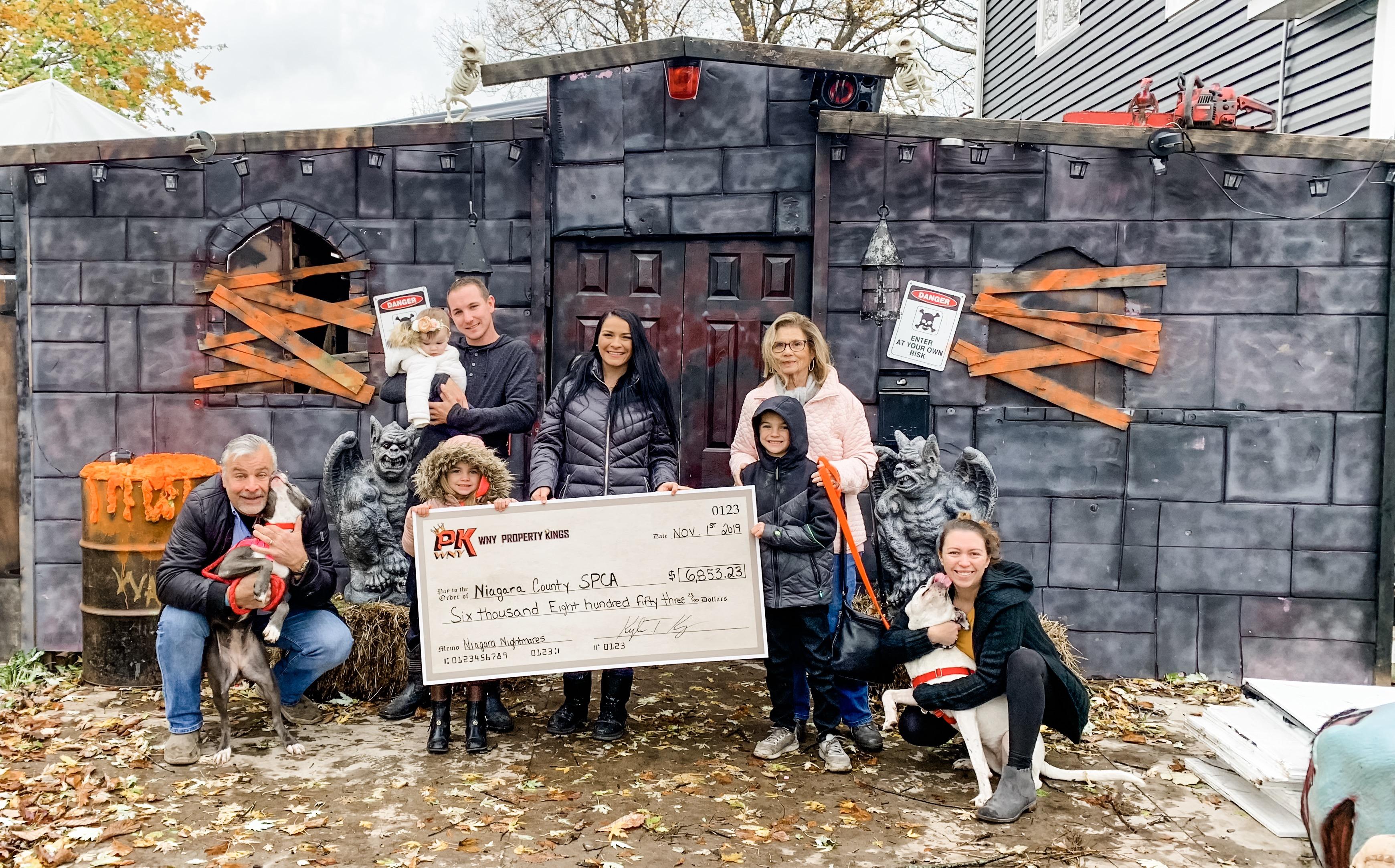 Close to $7,000 raised for Niagara SPCA thanks to North Tonawanda home haunt